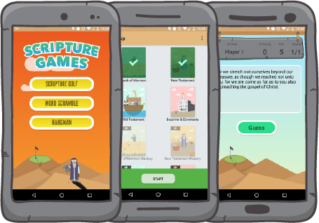 Screenshots of Scripture Games